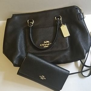 Leather Coach Purse and Wallet